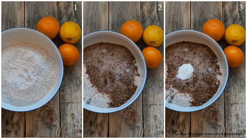 Ciambella integrale all'arancia e limoncello, senza uova