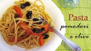 Pasta pomodori e olive