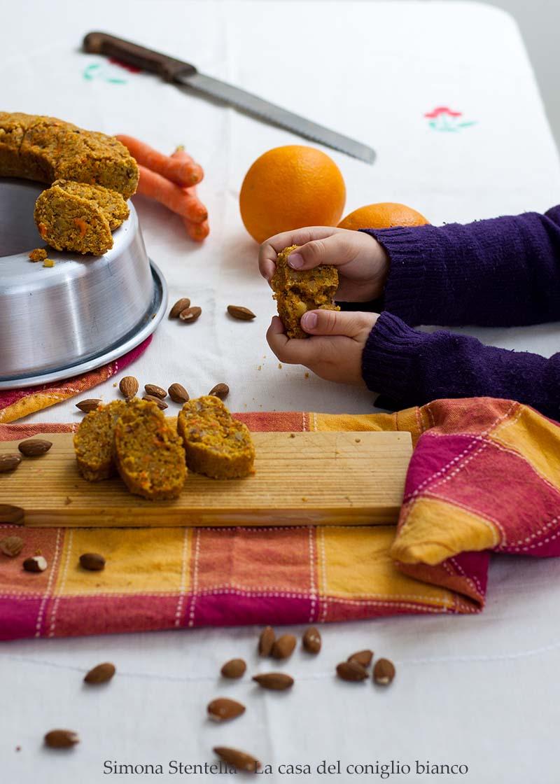 Torta di carote-mandorla-arancia