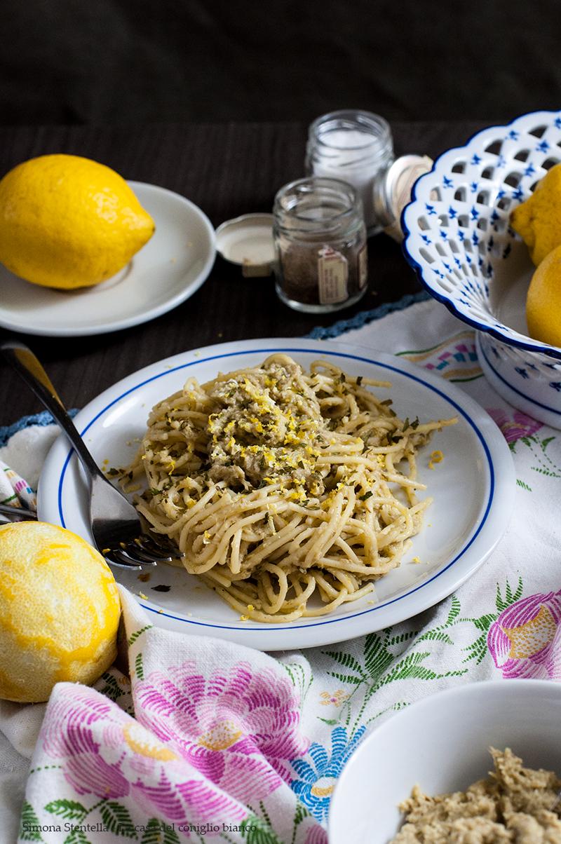 Spaghetti alla crema di carciofi e scorza di limone3