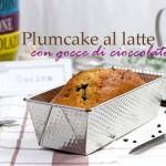 Plumcake al latte con gocce di cioccolato