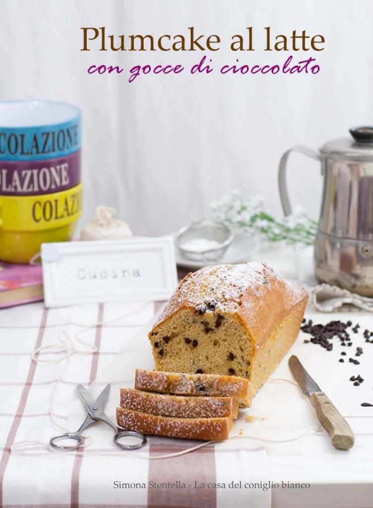 plumcake al latte con gocce di cioccolato v