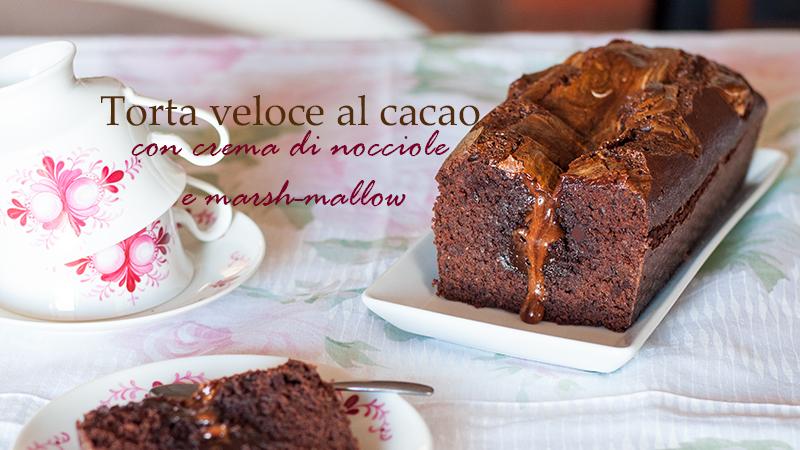 Torta al cacao, crema di nocciole e marsh-mallow ifood