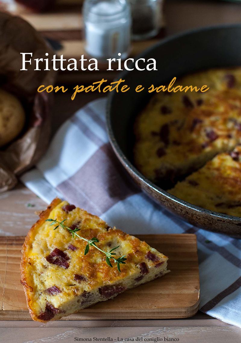Frittata con patate e salame 2 blog