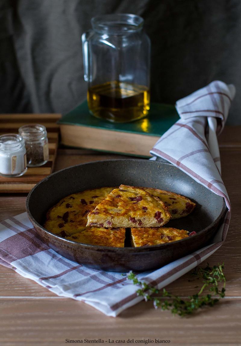 Frittata con patate e salame 4 blog