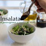 Insalata con parmigiano e crema di aceto balsamico