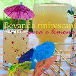 Bevanda rinfrescante alla pera e limone