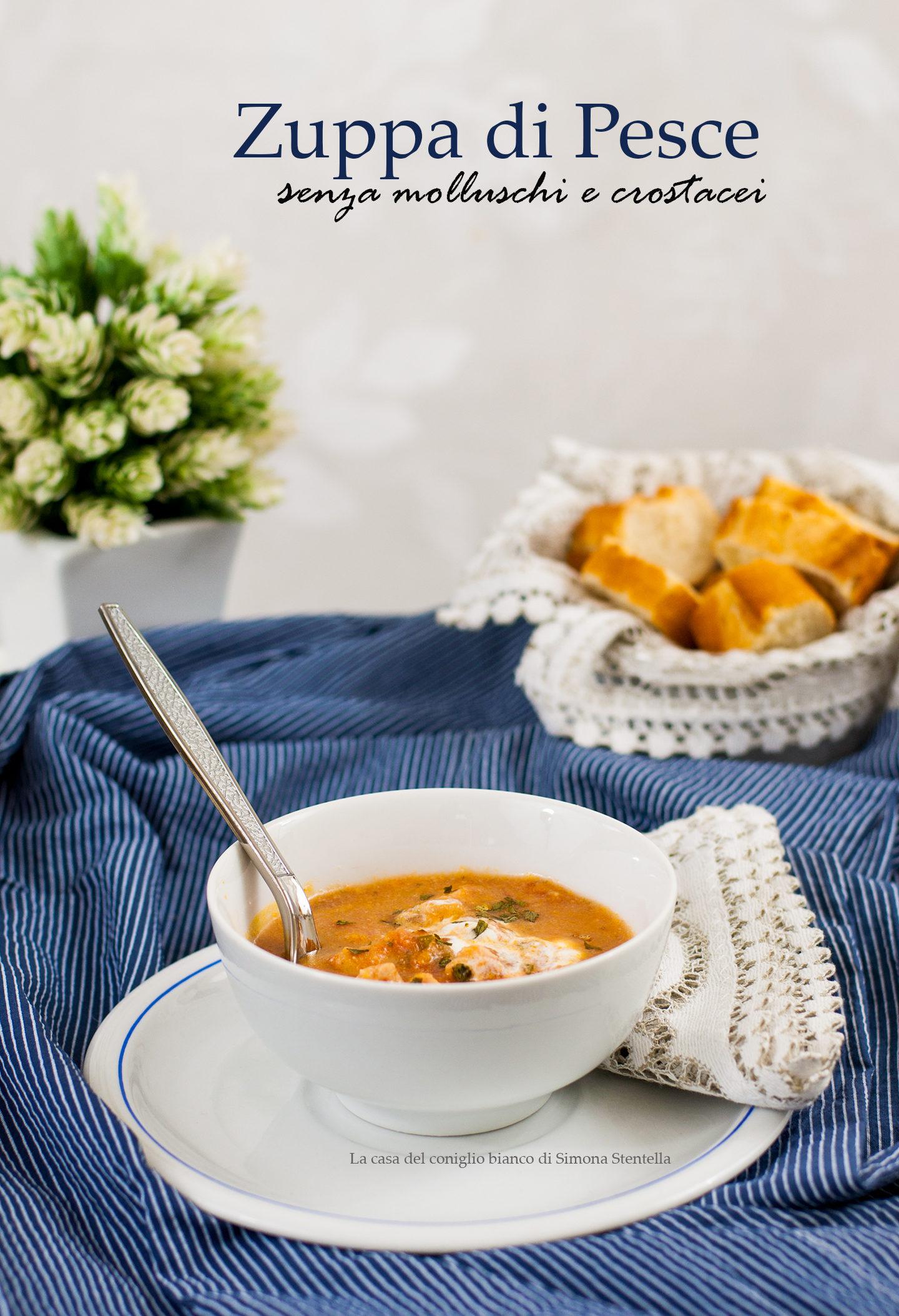 Zuppa di pesce senza molluschi e crostacei