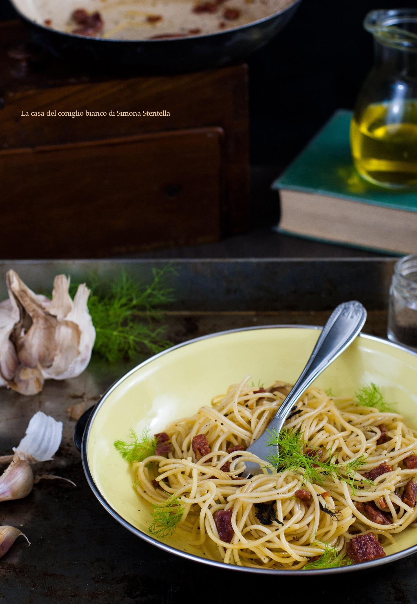 Spaghetti salame e finocchietto