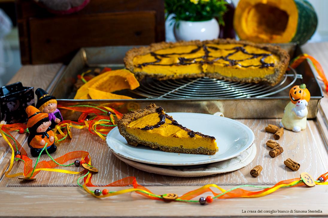 Pumpkin pie senza glutine con stevia